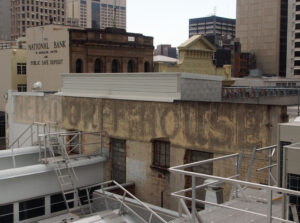old signage on buildings in Brisbane city